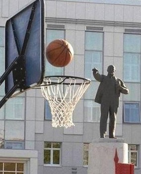 lenin plays basketball